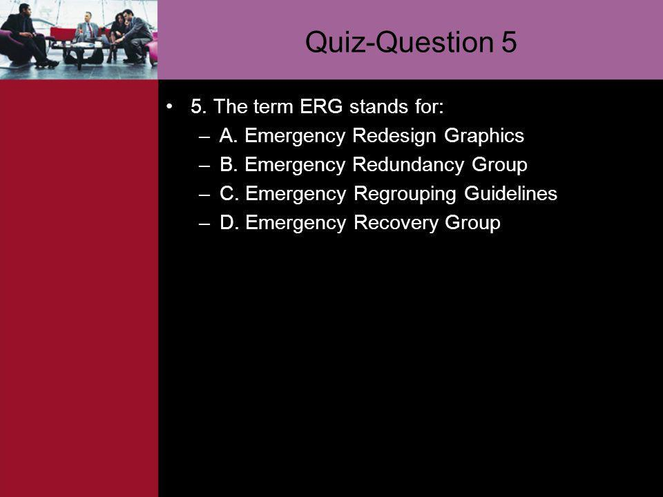 Quiz-Question 5 5. The term ERG stands for: