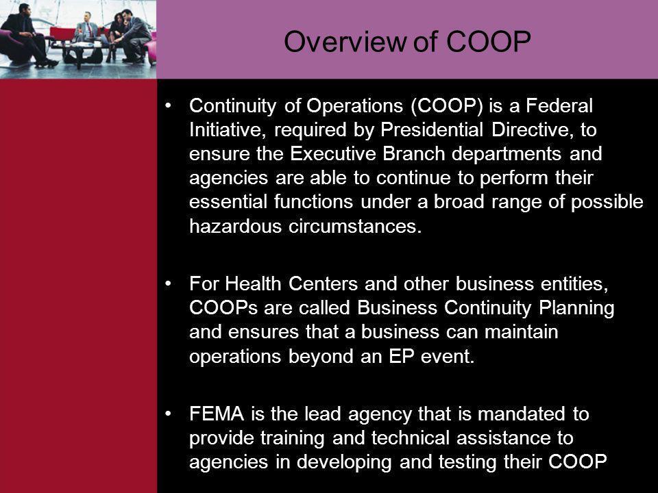 Overview of COOP