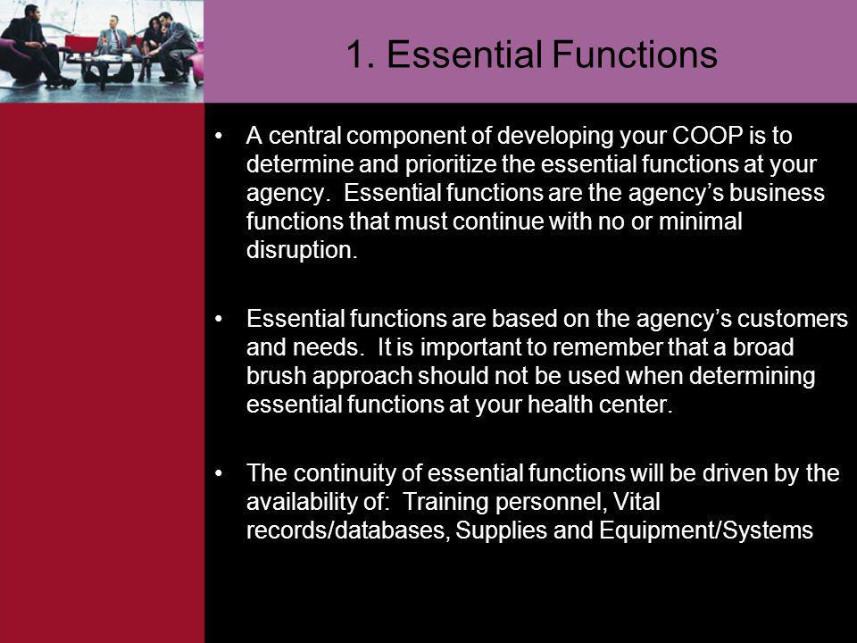 1. Essential Functions