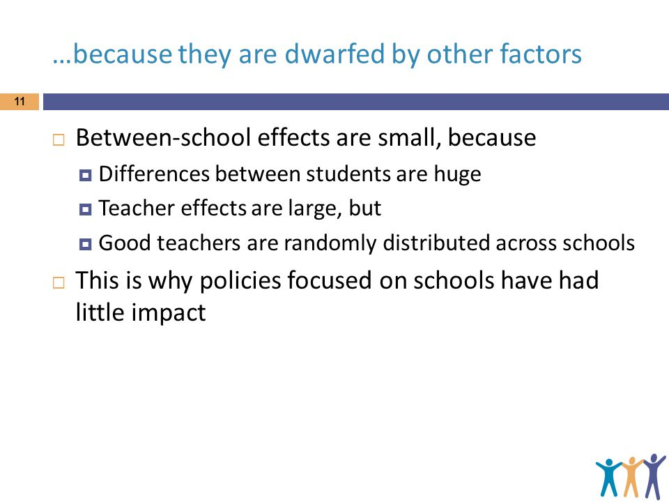 …because they are dwarfed by other factors