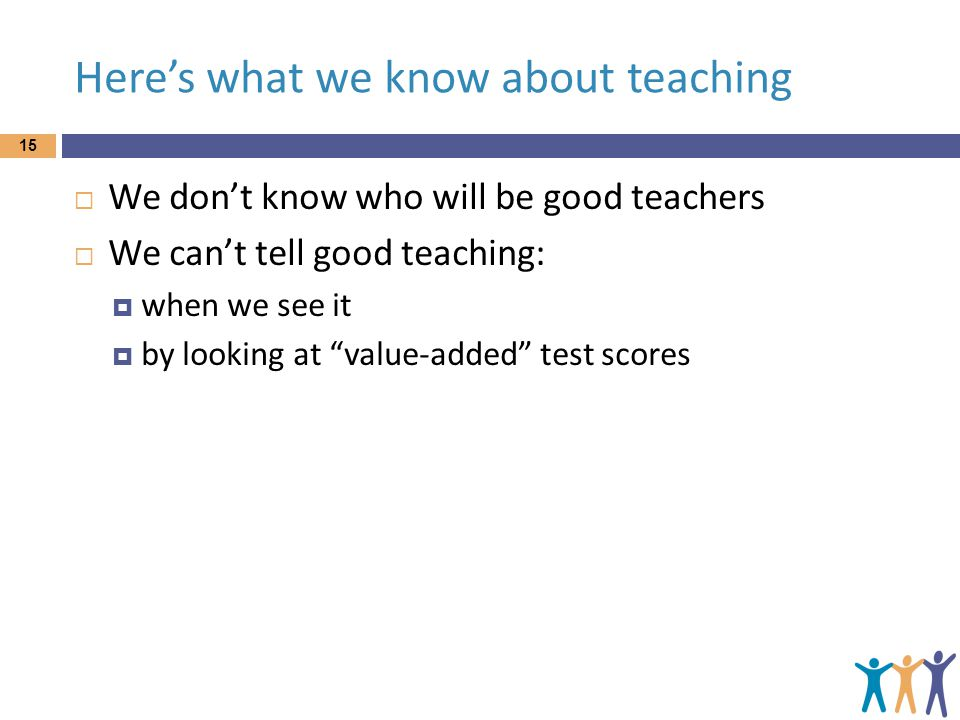 Here's what we know about teaching