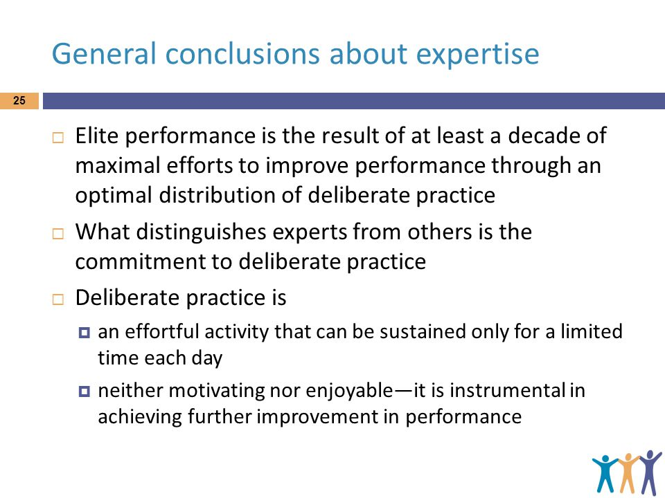General conclusions about expertise