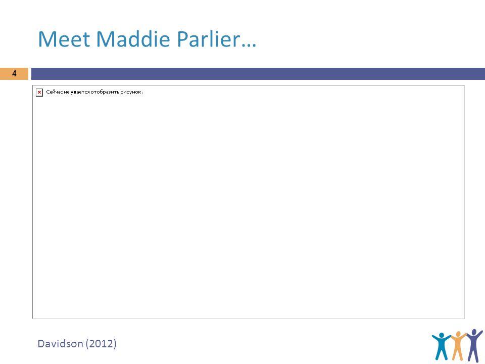 Meet Maddie Parlier… Davidson (2012)