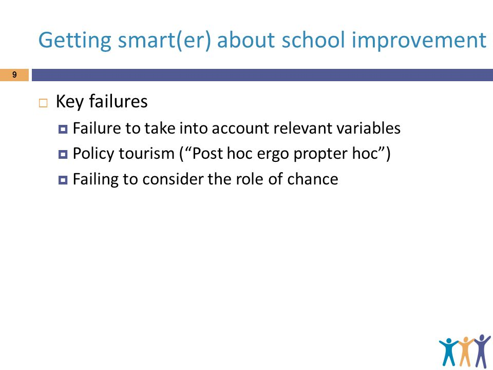 Getting smart(er) about school improvement