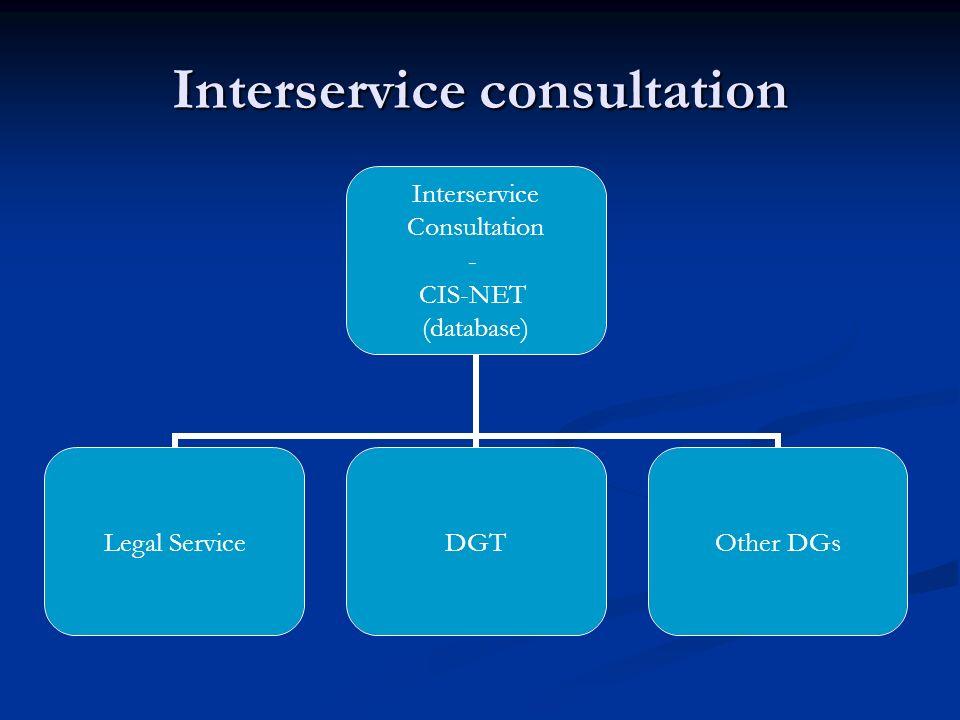 Interservice consultation