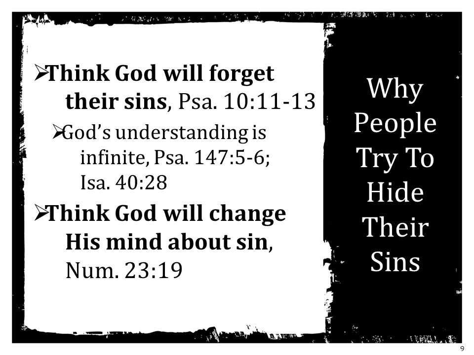 Why People Try To Hide Their Sins