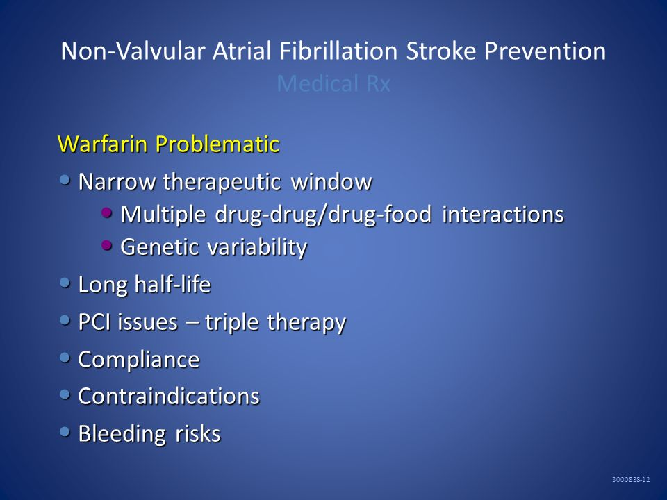 Non-Valvular Atrial Fibrillation Stroke Prevention Medical Rx