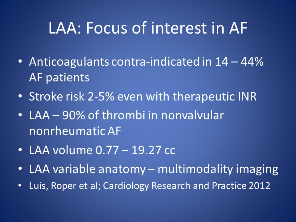 LAA: Focus of interest in AF