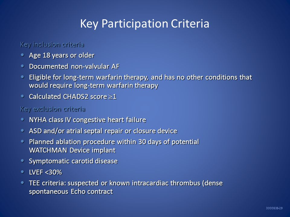 Key Participation Criteria