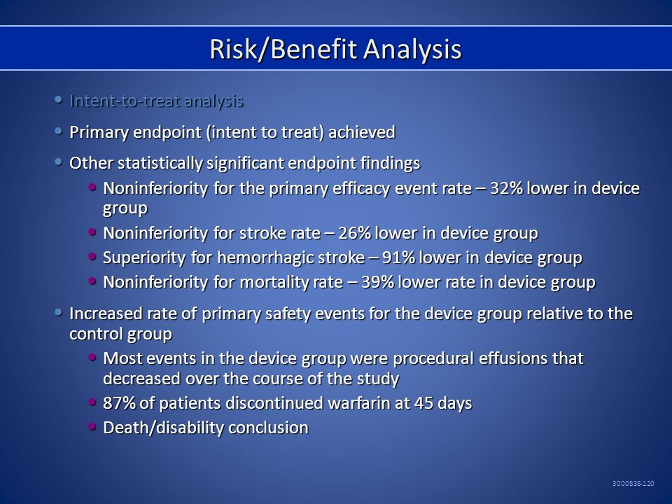 Risk/Benefit Analysis