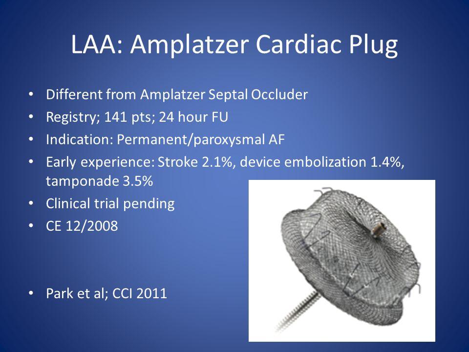 LAA: Amplatzer Cardiac Plug
