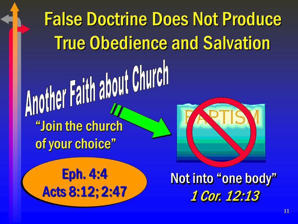 False Doctrine Does Not Produce True Obedience and Salvation