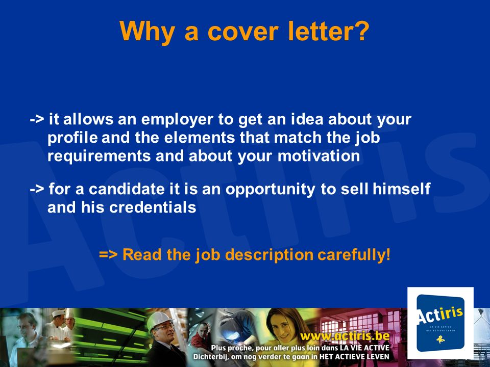 => Read the job description carefully!