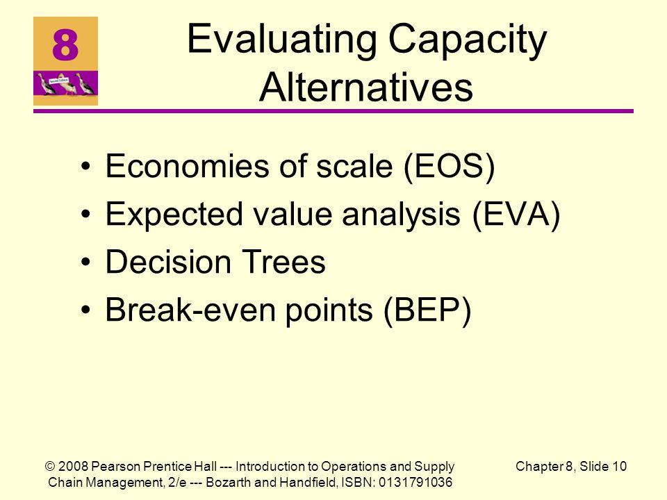 Evaluating Capacity Alternatives
