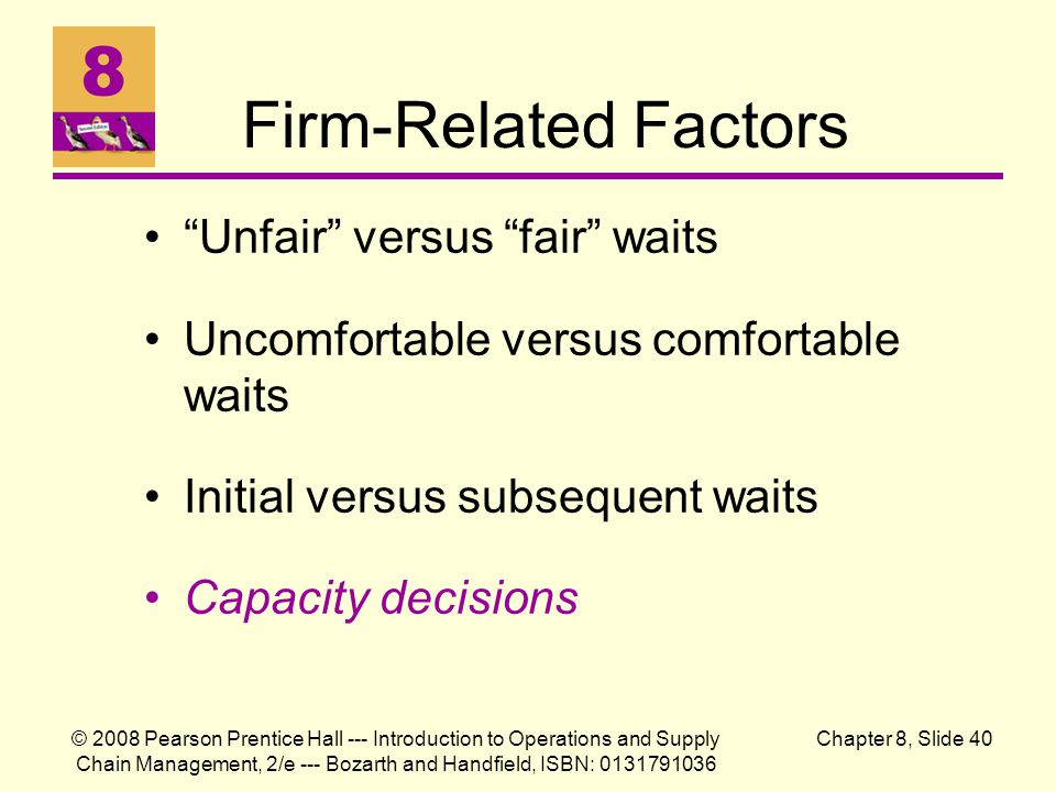 Firm-Related Factors Unfair versus fair waits