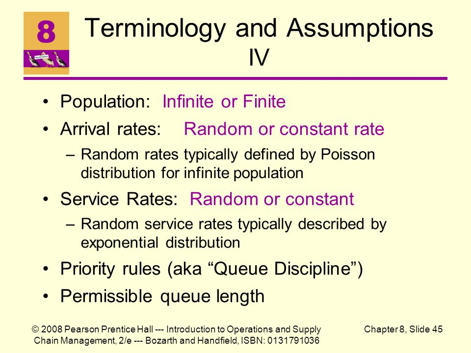 Terminology and Assumptions IV