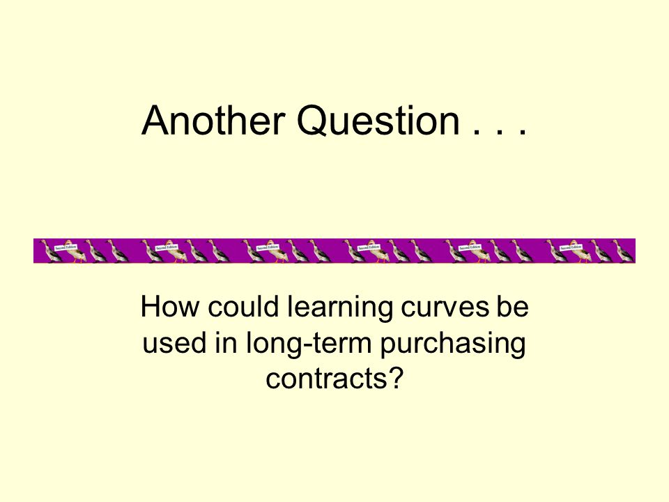 How could learning curves be used in long-term purchasing contracts
