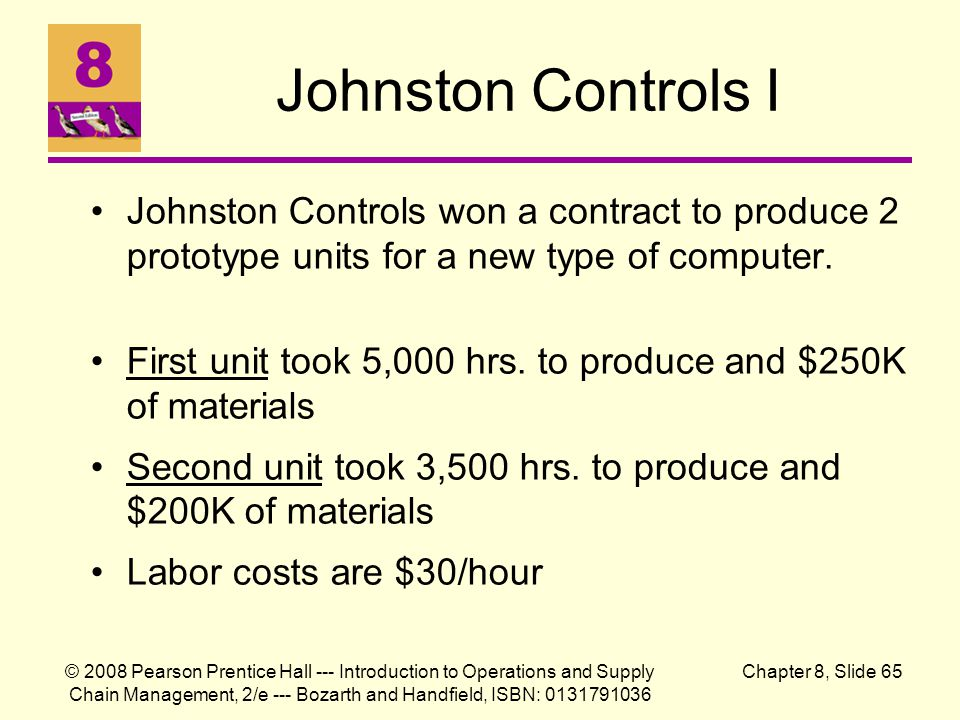 Johnston Controls I Johnston Controls won a contract to produce 2 prototype units for a new type of computer.