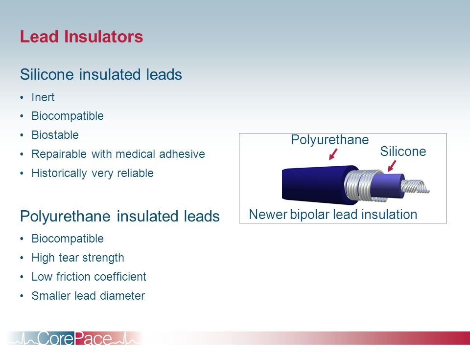 Newer bipolar lead insulation
