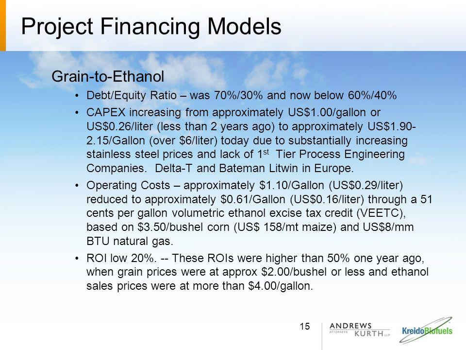 Project Financing Models