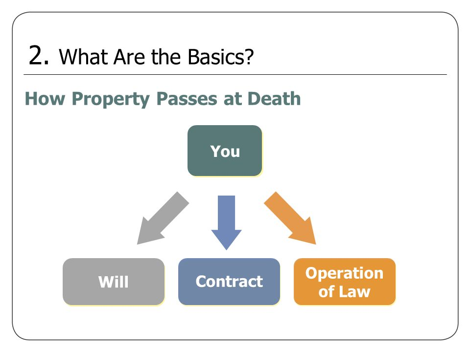 2. What Are the Basics How Property Passes at Death You Operation