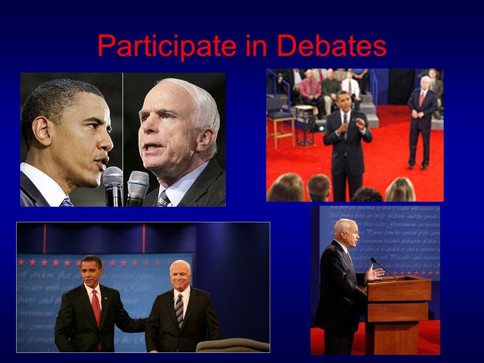 Participate in Debates