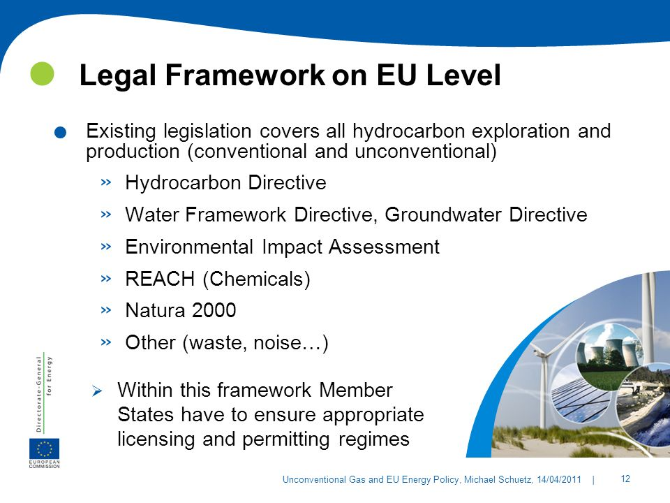 Legal Framework on EU Level