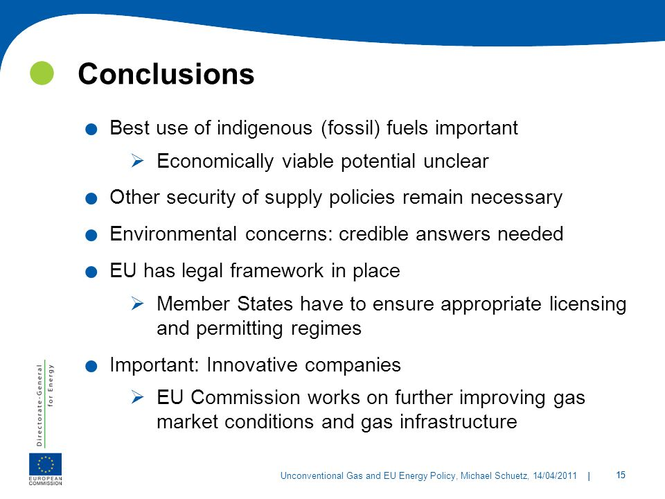  Conclusions Best use of indigenous (fossil) fuels important