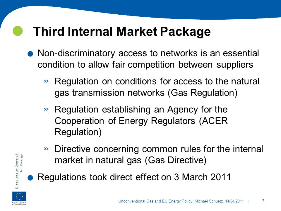 Third Internal Market Package