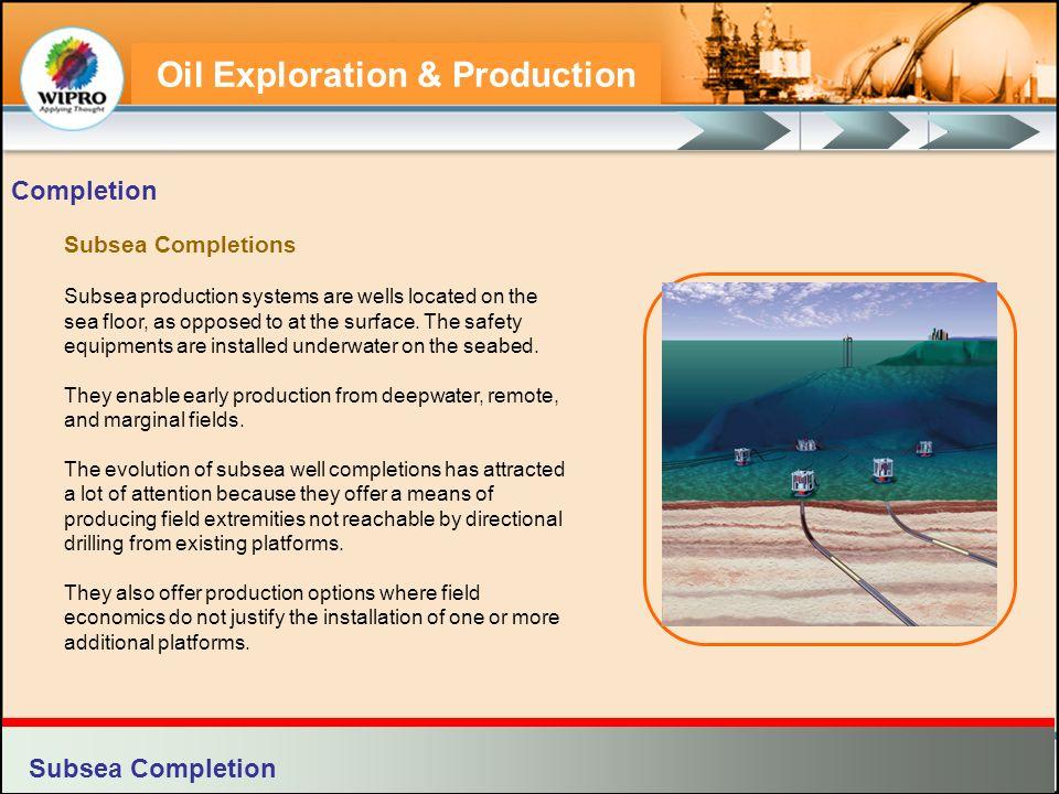 Completion Subsea Completion Subsea Completions