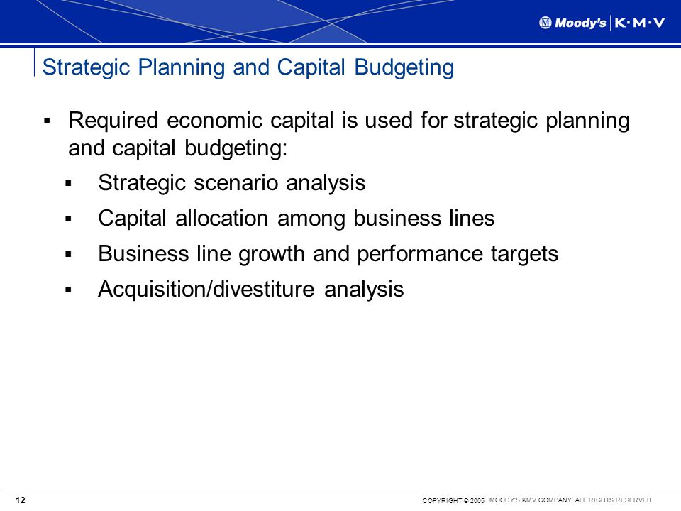Strategic Planning and Capital Budgeting