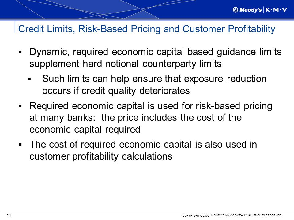 Credit Limits, Risk-Based Pricing and Customer Profitability