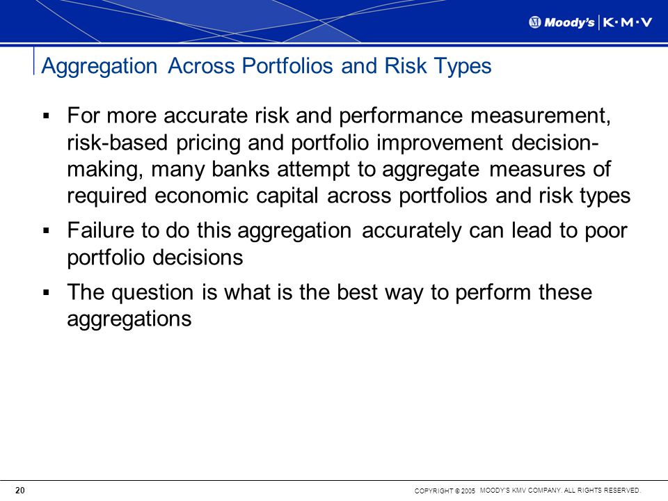 Aggregation Across Portfolios and Risk Types