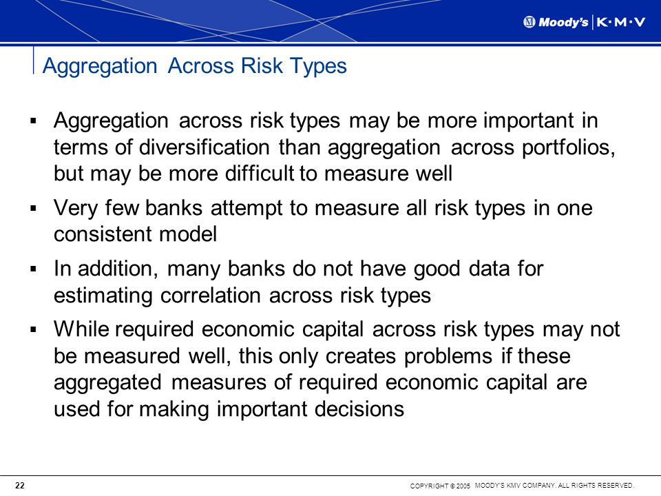 Aggregation Across Risk Types
