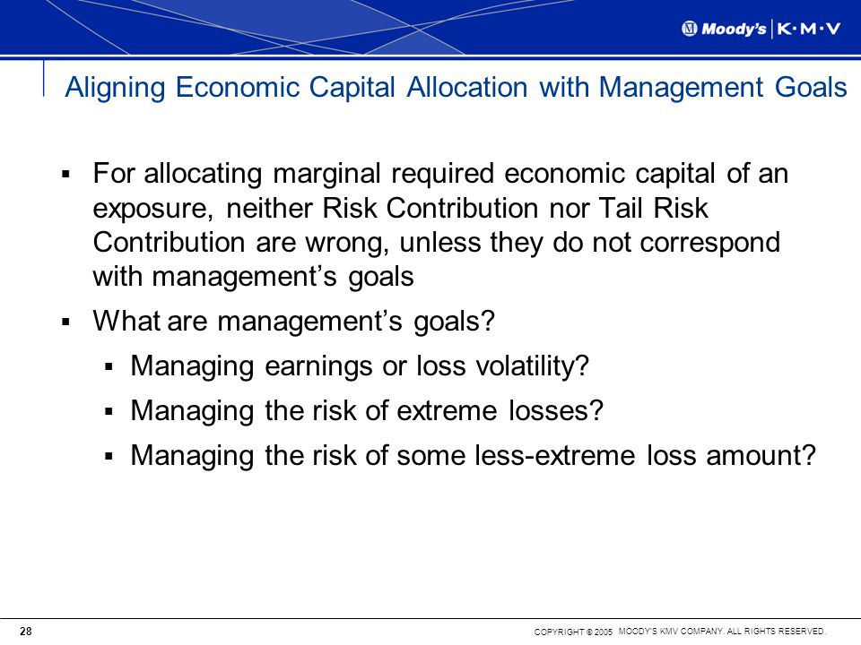 Aligning Economic Capital Allocation with Management Goals