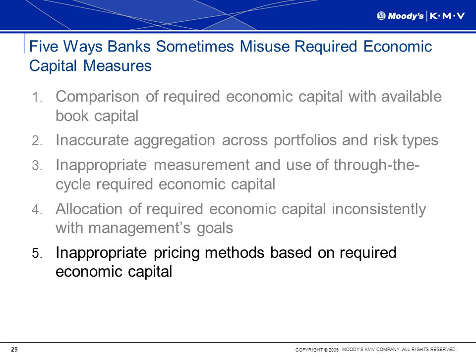 Five Ways Banks Sometimes Misuse Required Economic Capital Measures