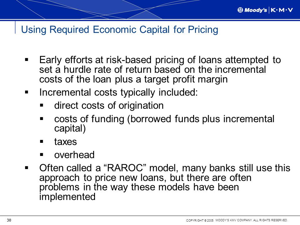 Using Required Economic Capital for Pricing