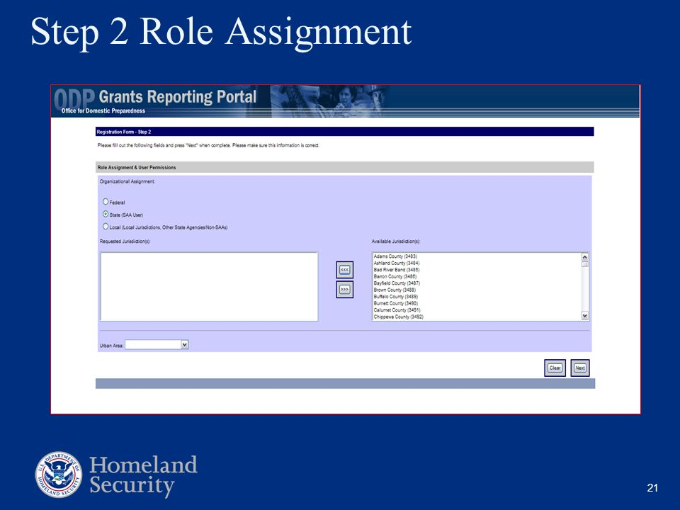 Step 2 Role Assignment Note SAA
