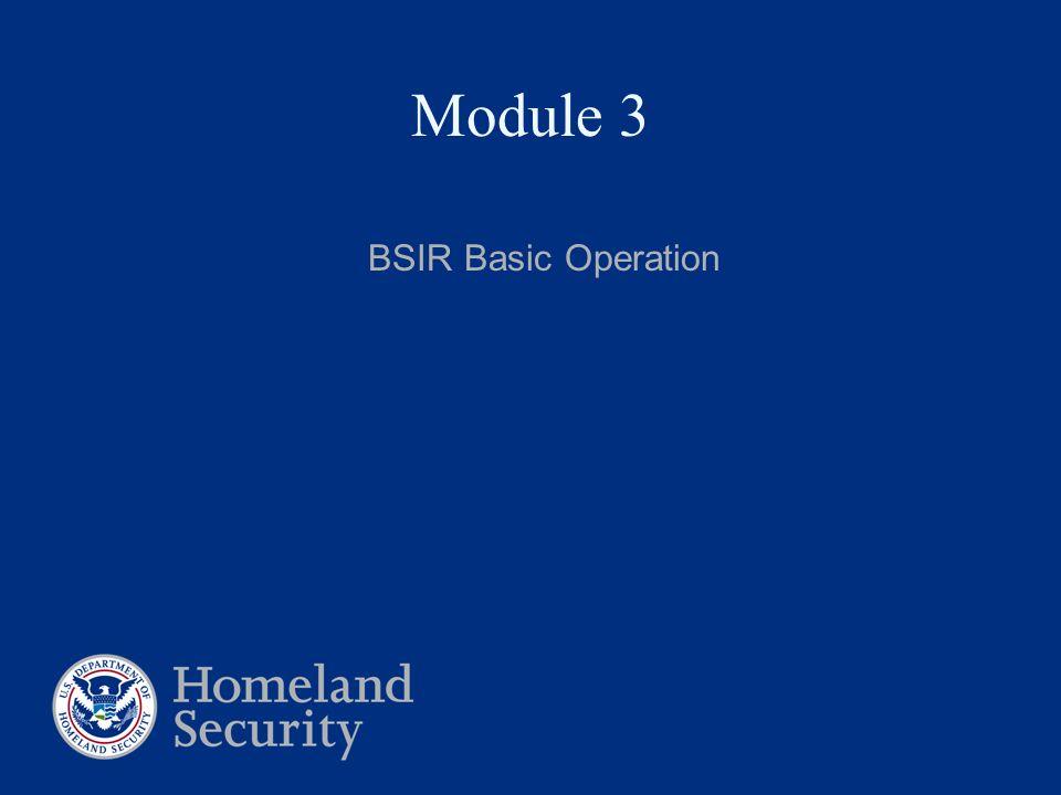 Module 3 BSIR Basic Operation