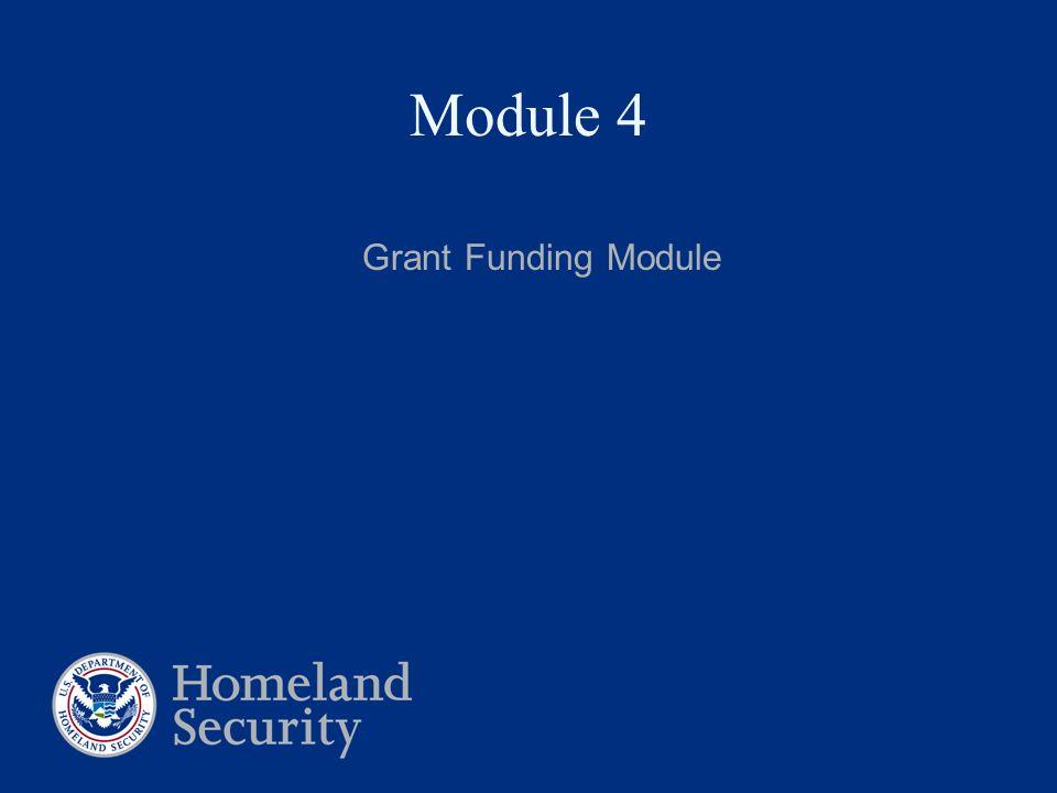 Module 4 Grant Funding Module