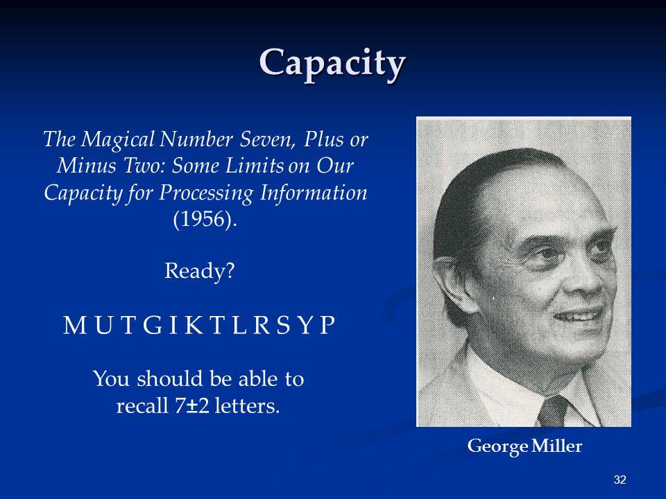 Capacity M U T G I K T L R S Y P