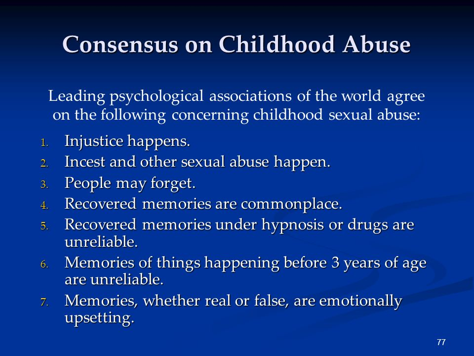 Consensus on Childhood Abuse
