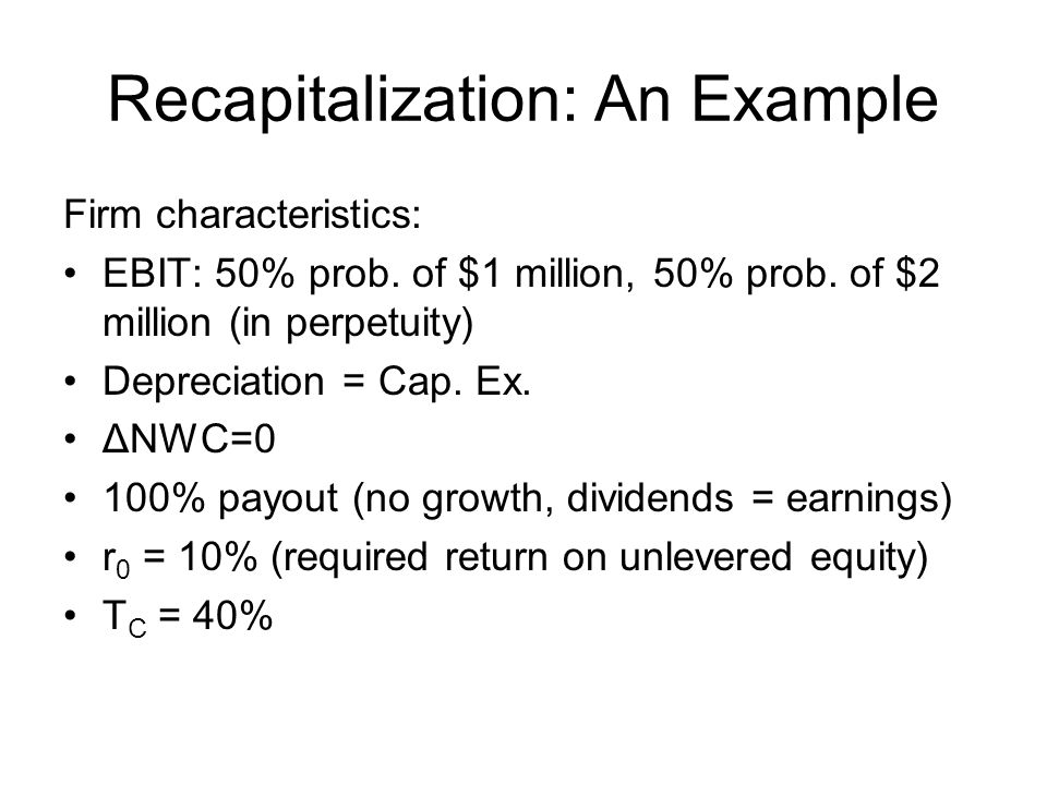 Recapitalization: An Example
