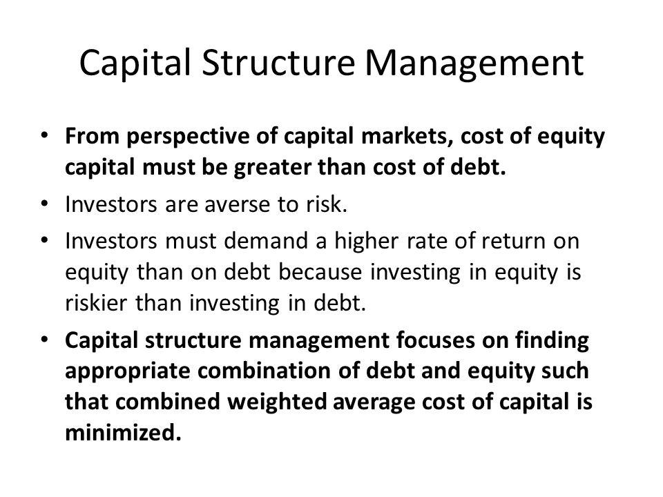 Capital Structure Management