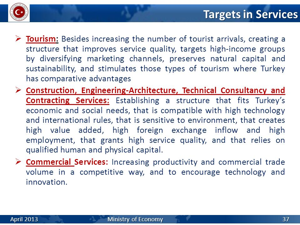Targets in Services