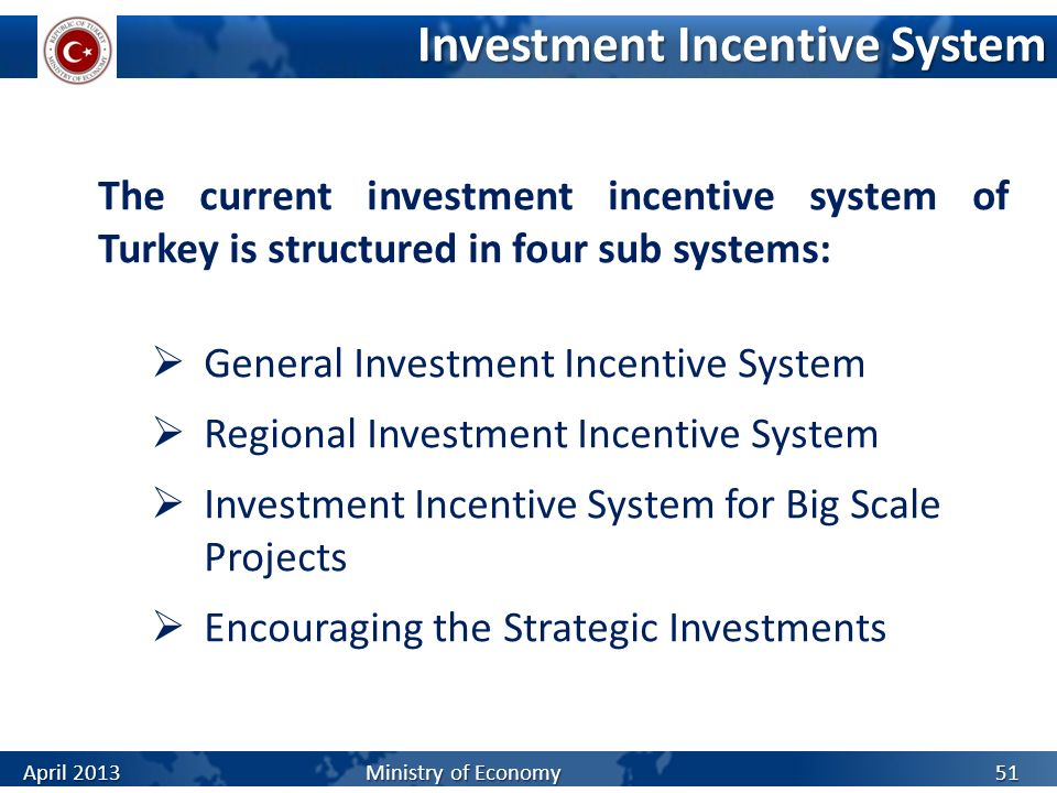 Investment Incentive System