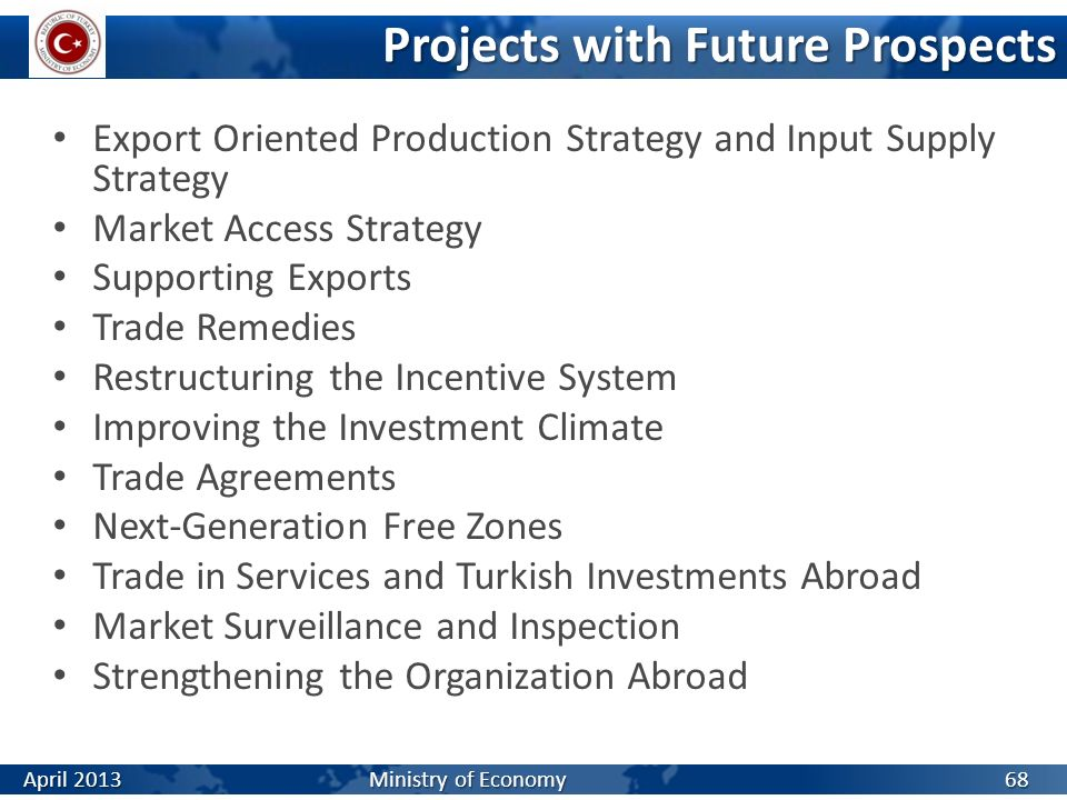 Projects with Future Prospects