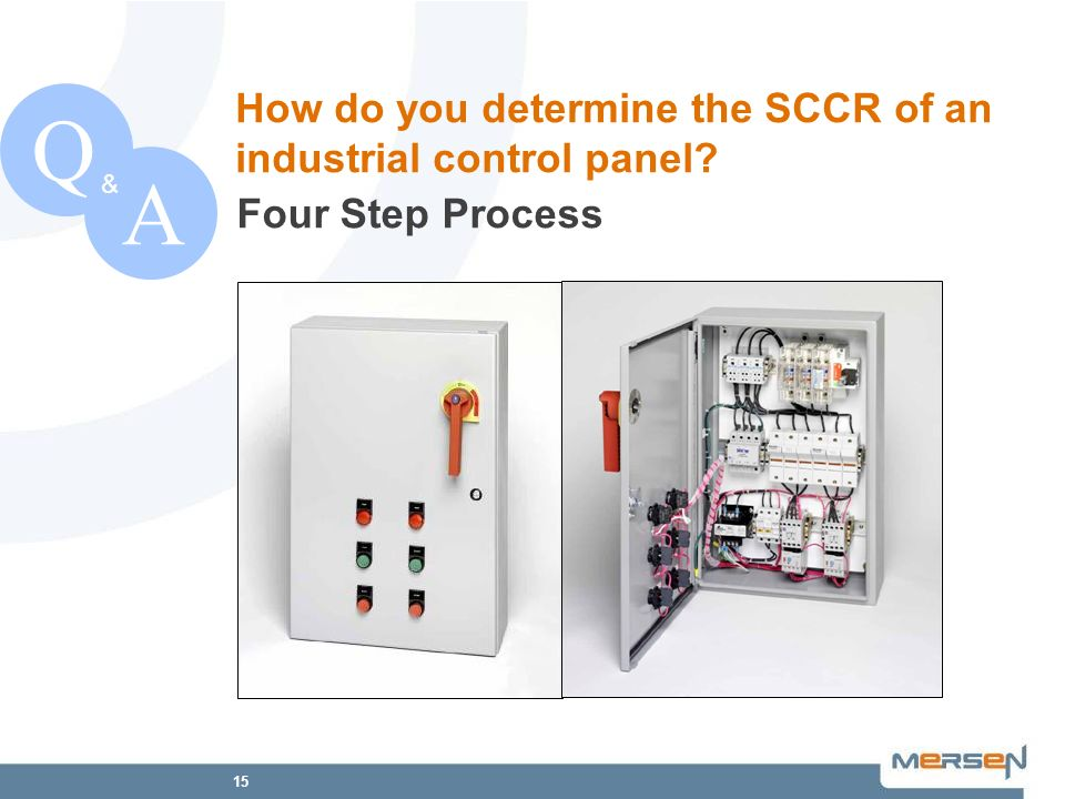 Q A How do you determine the SCCR of an industrial control panel