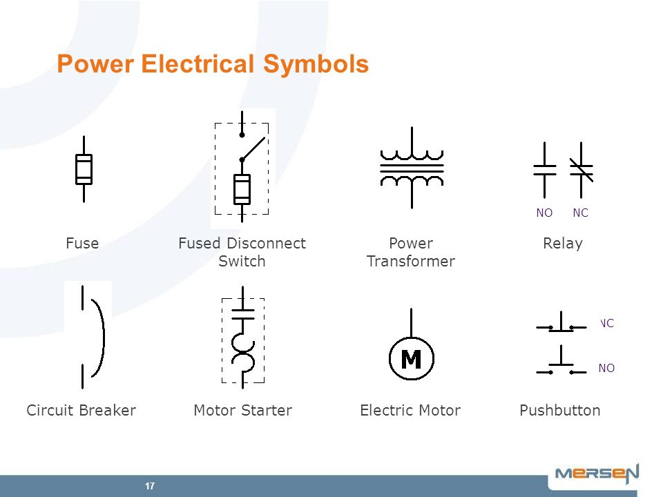 Power Electrical Symbols on Electrical Fused Disconnect Switch Symbol