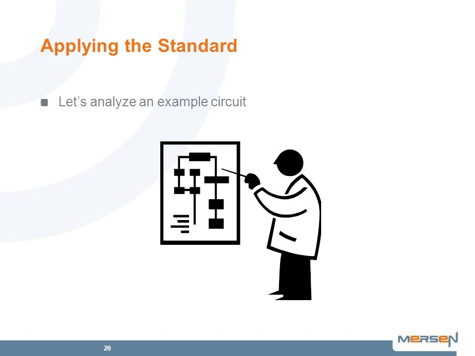 Applying the Standard Let's analyze an example circuit